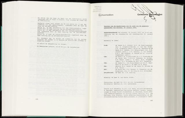 Raadsverslagen van de gemeente Leeuwarden, 1865-2007 (Notulen) 1993-01-26