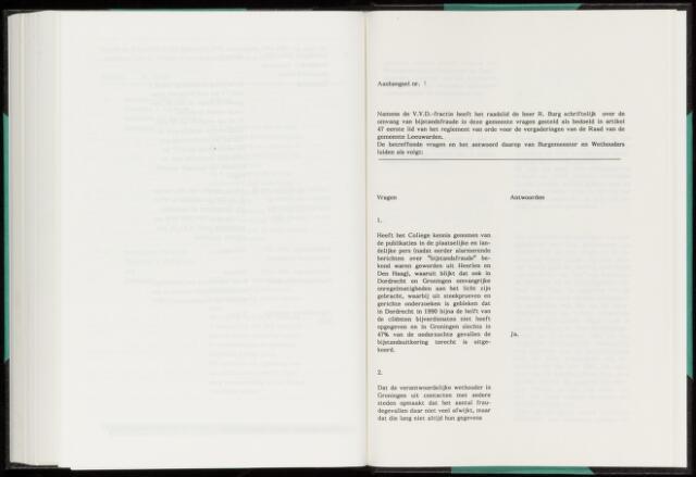 Raadsverslagen van de gemeente Leeuwarden, 1865-2007 (Schriftelijke vragen) 1993-01-01