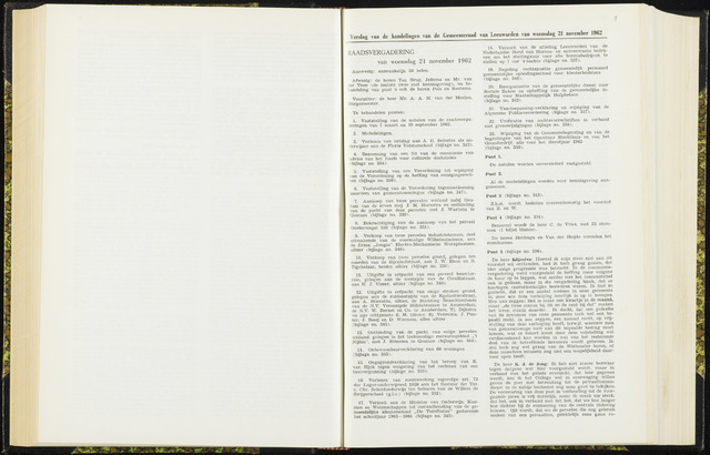 Raadsverslagen van de gemeente Leeuwarden, 1865-2007 (Notulen) 1962-11-21