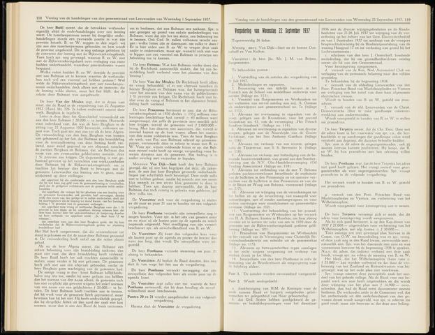 Raadsverslagen van de gemeente Leeuwarden, 1865-2007 (Notulen) 1937-09-22