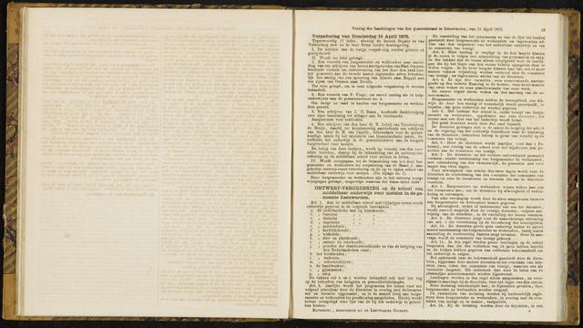 Raadsverslagen van de gemeente Leeuwarden, 1865-2007 (Notulen) 1875-04-15