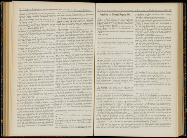 Raadsverslagen van de gemeente Leeuwarden, 1865-2007 (Notulen) 1908-08-11