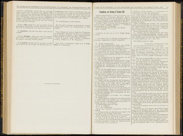 Raadsverslagen van de gemeente Leeuwarden, 1865-2007 (Notulen) 1914-10-13