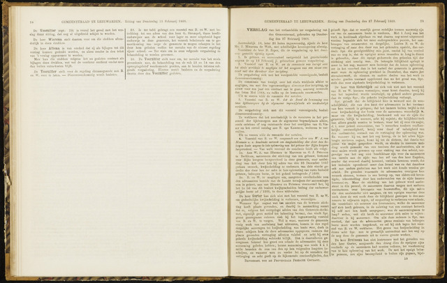 Raadsverslagen van de gemeente Leeuwarden, 1865-2007 (Notulen) 1868-02-27