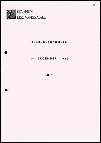 Notulen van de gemeenteraad van Leeuwarderadeel 1993-12-16