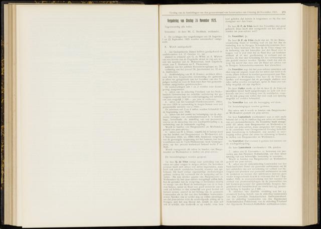 Raadsverslagen van de gemeente Leeuwarden, 1865-2007 (Notulen) 1925-11-24