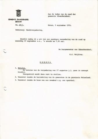 raadsverslagen Idaarderadeel 1935-1983 1976-09-15