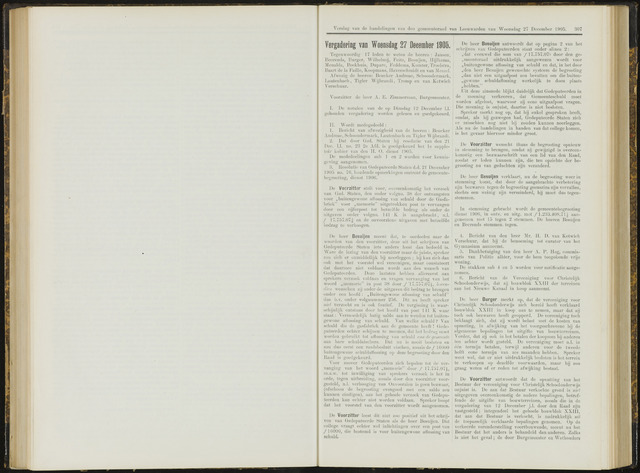 Raadsverslagen van de gemeente Leeuwarden, 1865-2007 (Notulen) 1905-12-27