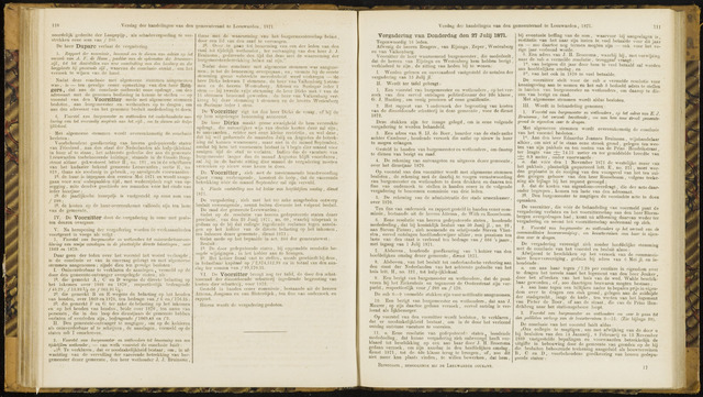 Raadsverslagen van de gemeente Leeuwarden, 1865-2007 (Notulen) 1871-07-27