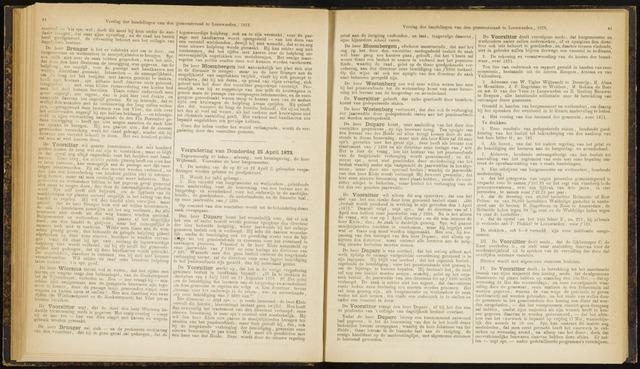 Raadsverslagen van de gemeente Leeuwarden, 1865-2007 (Notulen) 1872-04-25