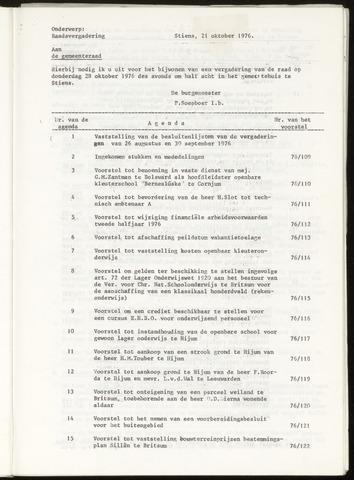 Notulen van de gemeenteraad van Leeuwarderadeel 1976-10-28