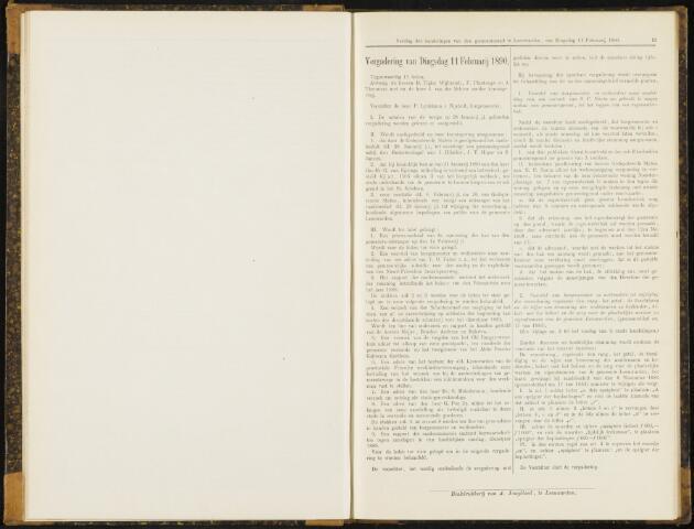 Raadsverslagen van de gemeente Leeuwarden, 1865-2007 (Notulen) 1890-02-11