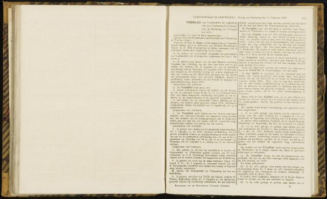 Raadsverslagen van de gemeente Leeuwarden, 1865-2007 (Notulen) 1870-08-11