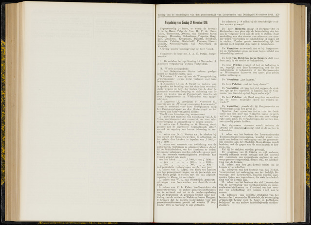 Raadsverslagen van de gemeente Leeuwarden, 1865-2007 (Notulen) 1916-11-21