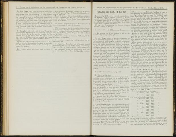 Raadsverslagen van de gemeente Leeuwarden, 1865-2007 (Notulen) 1907-06-11