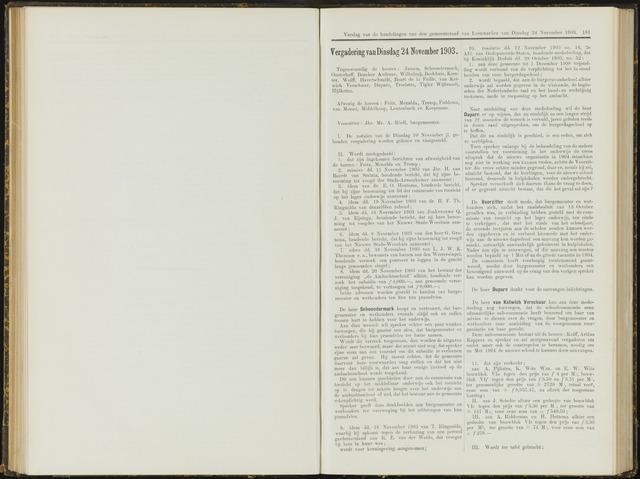 Raadsverslagen van de gemeente Leeuwarden, 1865-2007 (Notulen) 1903-11-24