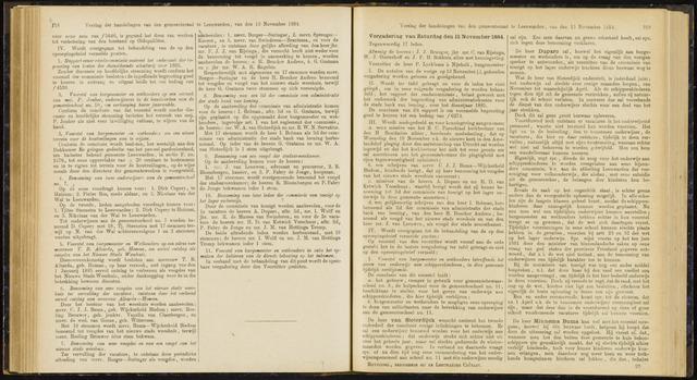 Raadsverslagen van de gemeente Leeuwarden, 1865-2007 (Notulen) 1884-11-15