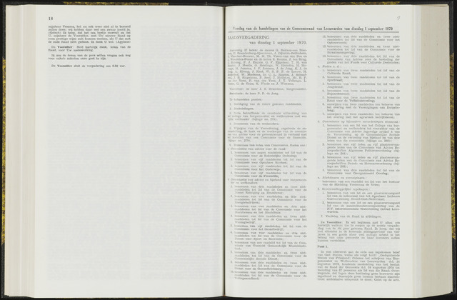 Raadsverslagen van de gemeente Leeuwarden, 1865-2007 (Notulen) 1970-09-01