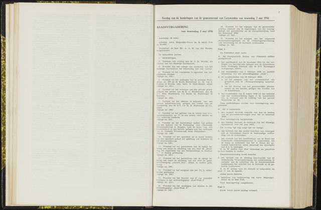 Raadsverslagen van de gemeente Leeuwarden, 1865-2007 (Notulen) 1956-05-02