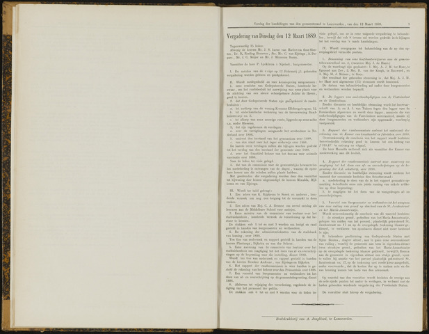Raadsverslagen van de gemeente Leeuwarden, 1865-2007 (Notulen) 1889-03-12