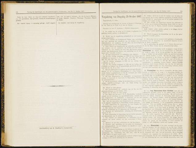 Raadsverslagen van de gemeente Leeuwarden, 1865-2007 (Notulen) 1887-10-25