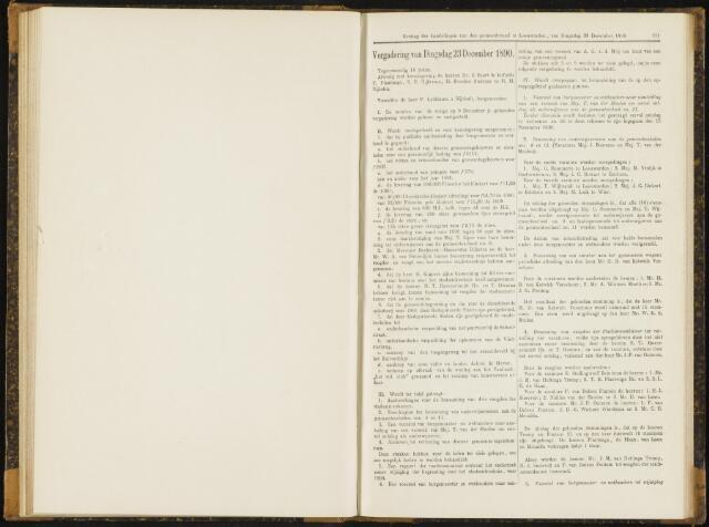 Raadsverslagen van de gemeente Leeuwarden, 1865-2007 (Notulen) 1890-12-23