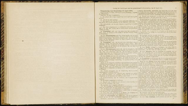 Raadsverslagen van de gemeente Leeuwarden, 1865-2007 (Notulen) 1874-04-30