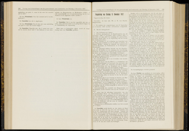 Raadsverslagen van de gemeente Leeuwarden, 1865-2007 (Notulen) 1927-11-15