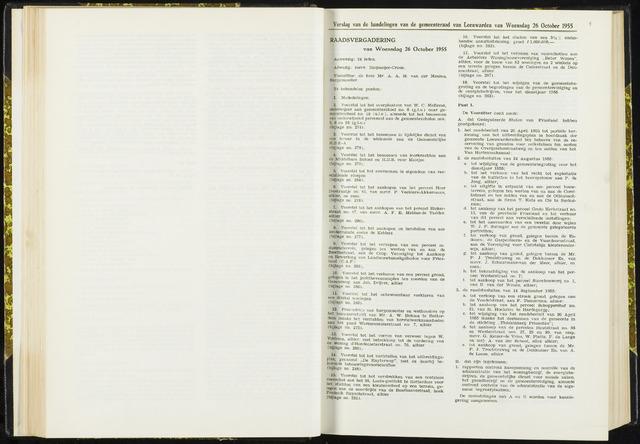 Raadsverslagen van de gemeente Leeuwarden, 1865-2007 (Notulen) 1955-10-26