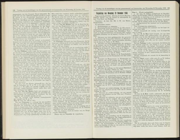 Raadsverslagen van de gemeente Leeuwarden, 1865-2007 (Notulen) 1940-11-20