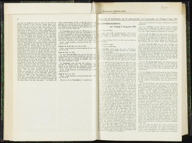 Raadsverslagen van de gemeente Leeuwarden, 1865-2007 (Notulen) 1952-08-08
