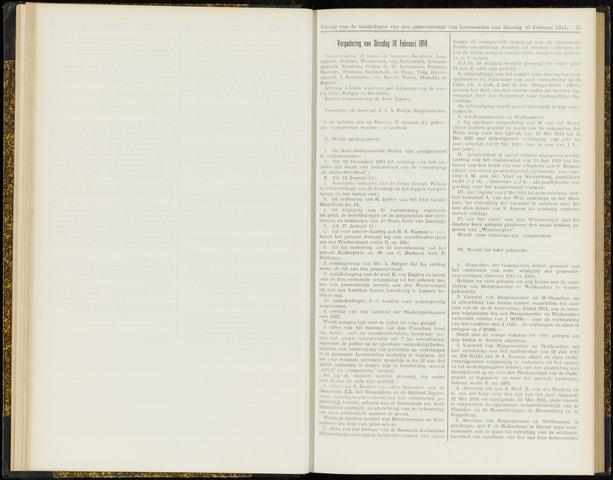 Raadsverslagen van de gemeente Leeuwarden, 1865-2007 (Notulen) 1914-02-10