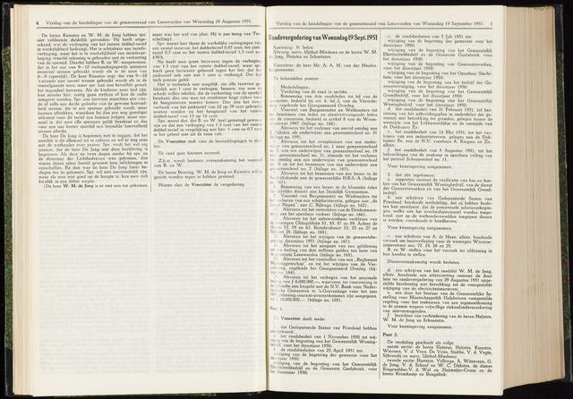Raadsverslagen van de gemeente Leeuwarden, 1865-2007 (Notulen) 1951-09-19