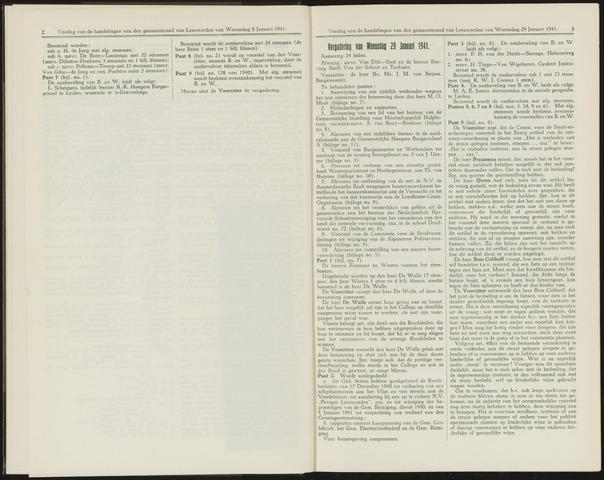 Raadsverslagen van de gemeente Leeuwarden, 1865-2007 (Notulen) 1941-01-29