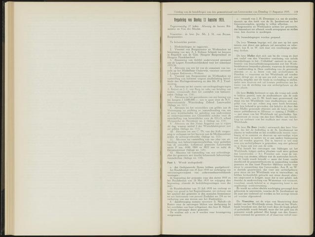 Raadsverslagen van de gemeente Leeuwarden, 1865-2007 (Notulen) 1935-08-13