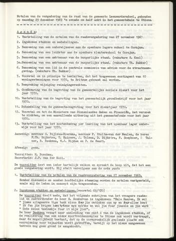 Notulen van de gemeenteraad van Leeuwarderadeel 1969-12-29