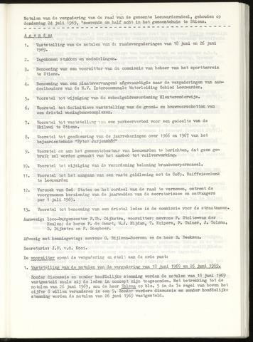 Notulen van de gemeenteraad van Leeuwarderadeel 1969-07-24