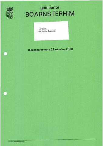 Boarnsterhim vergaderstukken gemeenteraad  2008-10-28