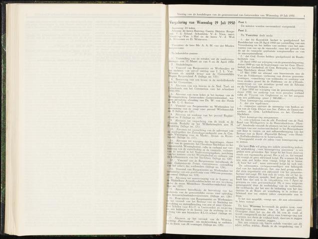 Raadsverslagen van de gemeente Leeuwarden, 1865-2007 (Notulen) 1950-07-19