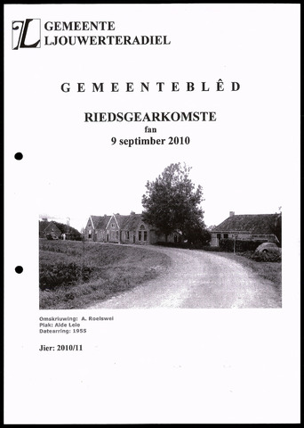 Notulen van de gemeenteraad van Leeuwarderadeel 2010-09-09