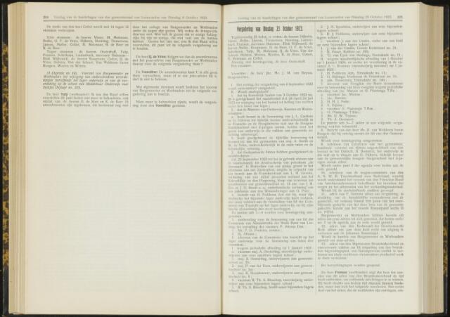 Raadsverslagen van de gemeente Leeuwarden, 1865-2007 (Notulen) 1923-10-23