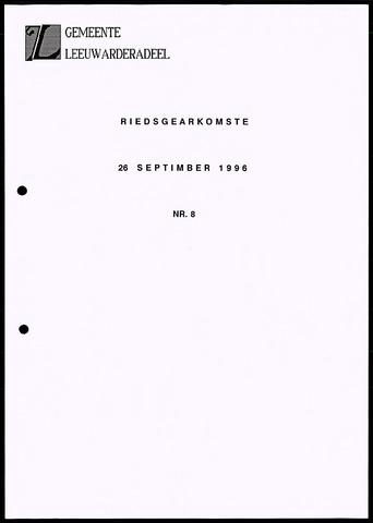 Notulen van de gemeenteraad van Leeuwarderadeel 1996-09-26