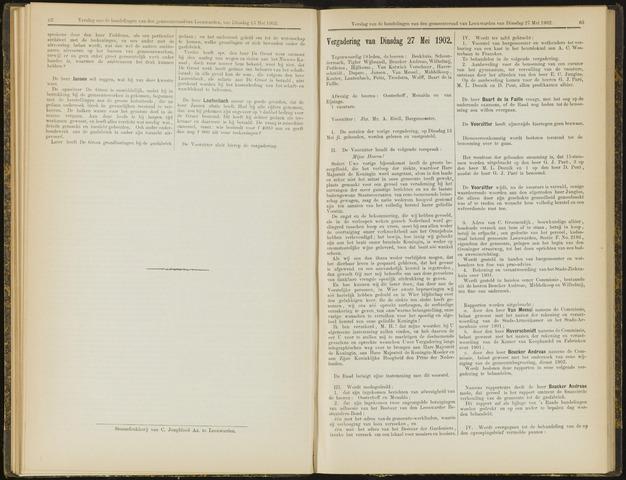 Raadsverslagen van de gemeente Leeuwarden, 1865-2007 (Notulen) 1902-05-27