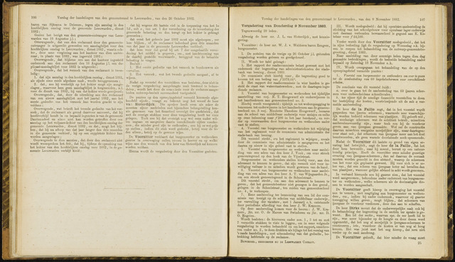 Raadsverslagen van de gemeente Leeuwarden, 1865-2007 (Notulen) 1882-11-09