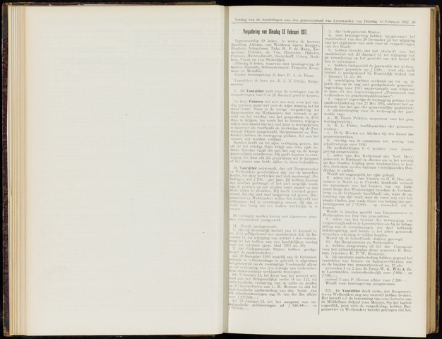 Raadsverslagen van de gemeente Leeuwarden, 1865-2007 (Notulen) 1917-02-13