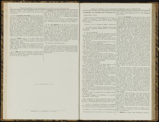 Raadsverslagen van de gemeente Leeuwarden, 1865-2007 (Notulen) 1886-02-09
