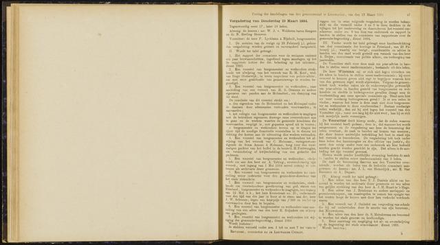 Raadsverslagen van de gemeente Leeuwarden, 1865-2007 (Notulen) 1884-03-13