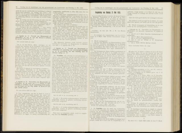 Raadsverslagen van de gemeente Leeuwarden, 1865-2007 (Notulen) 1926-05-25