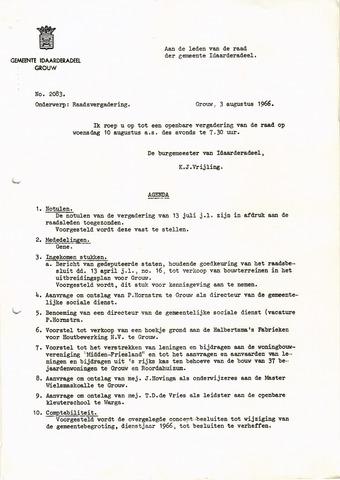 raadsverslagen Idaarderadeel 1935-1983 1966-08-10