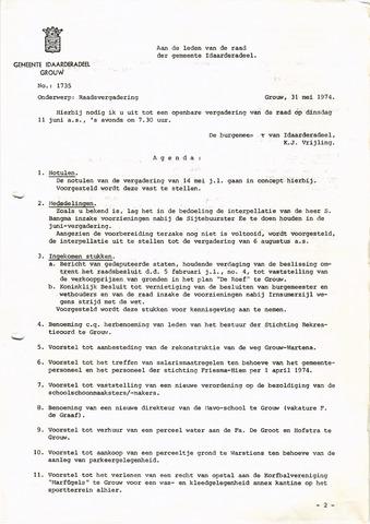raadsverslagen Idaarderadeel 1935-1983 1974-06-11